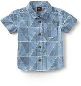 Tea Collection 'Mosaic' Short Sleeve Sport Shirt (Baby Boys)
