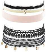 Charlotte Russe Textured Choker Necklaces - 5 Pack