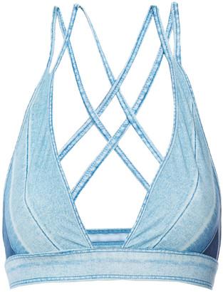 Jonathan Simkhai Printed Triangle Bikini Top