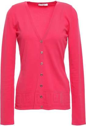 Versace Lattice-knit Cardigan