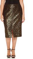 WORTHINGTON Worthington Jacquard Zip Front Pencil Skirt - Plus