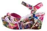 Dolce & Gabbana Jacquard Platform Wedge Sandals