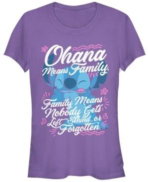 Fifth Sun Women's Disney Lilo Stitch Ohana Family Short Sleeve T-shirt