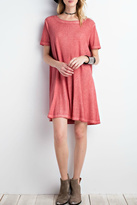Easel Washed T-Shirt Dress