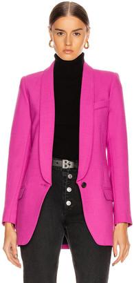 Smythe Long Shawl Blazer in Violet | FWRD