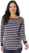 Apt. 9 Women's Striped Button Back Sweater