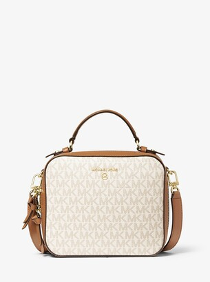MICHAEL Michael Kors Jet Set Medium Logo and Leather Crossbody Bag