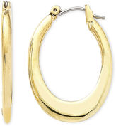 Liz Claiborne Gold-Tone Oval Hoop Earrings