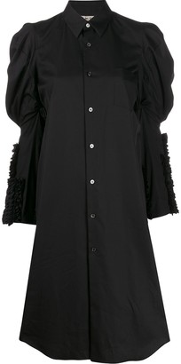 Comme des Garcons Puffed-Shoulder Shirt Dress