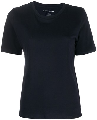 Majestic Filatures plain knitted T-shirt