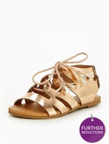 Very Nora Older Girls Ghillie Tie Sandals