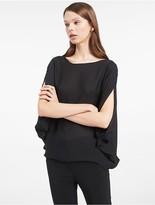 Calvin Klein Platinum Silk Symmetric Top
