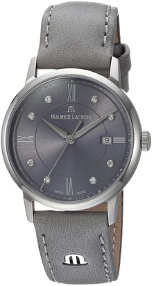 Maurice Lacroix Women's Eliros Stainless Steel Swiss Quartz Watch with Leather Calfskin Strap