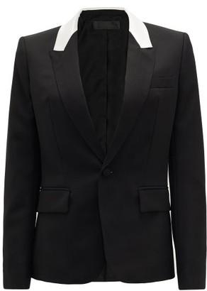 Haider Ackermann Contrast-panel Single-breasted Wool Jacket - Black White
