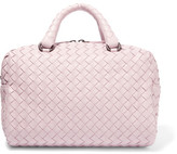 Bottega Veneta Boston Mini Intrecciato Leather Tote - Pastel pink