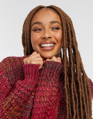 BB Dakota ombre knit sweater in red