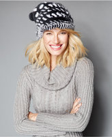 The Fur Vault Knitted Mink & Rabbit Fur Slouchy Beanie