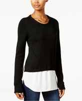 Amy Byer Juniors' High-Low Layered-Look Sweater