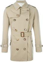 Alexander McQueen buttoned short trench coat