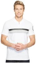 Calvin Klein Printed Stripe Zip Polo Shirt Men's Short Sleeve Pullover