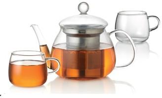 Baccarat Barista Glass Teapot and Cup 3 Piece Set