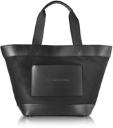 Alexander Wang Black Canvas Tote Bag w/Leather Pocket