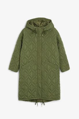 Monki Oversized quilted parka coat