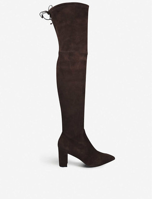 Stuart Weitzman Lesley 75 stretch-suede over-the-knee boots