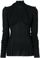 Dolce & Gabbana frill trim blouse - women - Spandex/Elastane/Viscose - 40