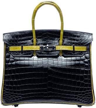 Hermes Birkin 25 Black Exotic leathers Handbags
