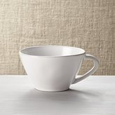 Crate & Barrel Marin White Jumbo Mug
