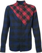Mostly Heard Rarely Seen mixed plaid shirt - men - Cotton - S