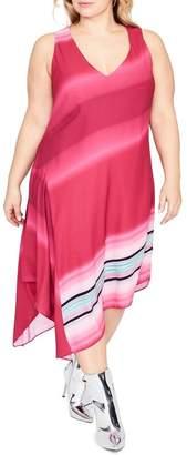 Rachel Roy Cami Scarf Midi Dress (Plus Size)