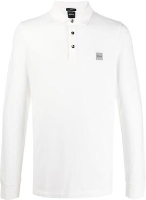 HUGO BOSS Embroidered Logo Longsleeved Polo Shirt