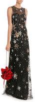 Jenny Packham Embellished Floor Length Gown