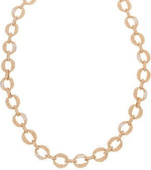 Grace Kelly Collection 18k Gold Plated Long Bold Link Necklace