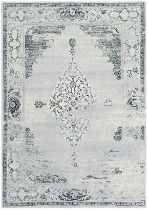 nuLoom Vintage Sherrell Framed Floral Rug