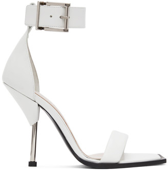 Alexander McQueen White Double Strap Sandals
