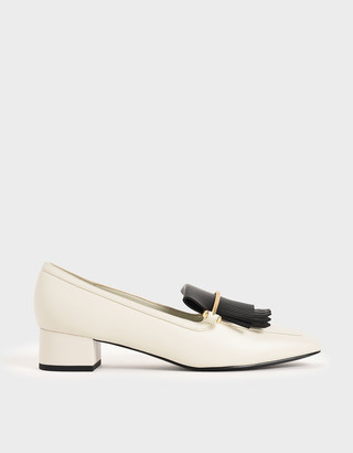 Charles & Keith Two-Tone Fringe Loafers