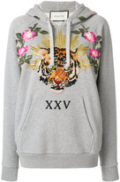 Gucci Embroidered hoodie - women - Cotton - XS