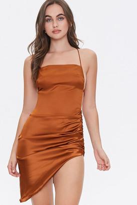 Forever 21 Satin Lace-Up Back Dress