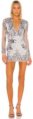 superdown Jessa Deep V Mini Dress