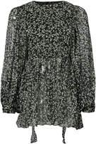 Zimmermann leaf print sheer blouse
