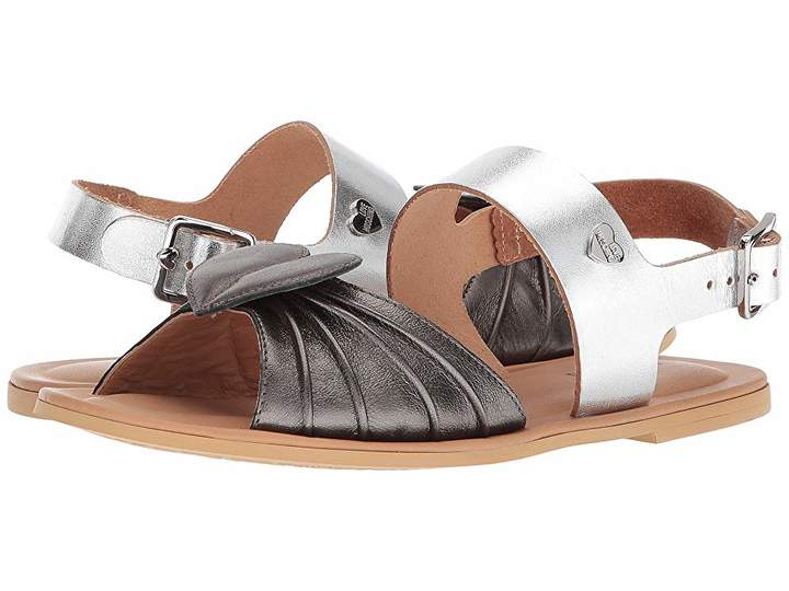 Love Moschino Leather Sandals w/ Tone on Tone Accessories Women's Sandals