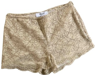 BEIGE Non Signe / Unsigned Silk Shorts for Women