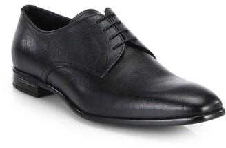 Prada Saffiano Leather Derby Shoes