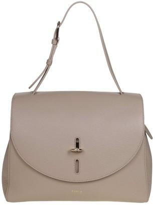 Furla Net M Shoulder Bag In Sand Color Leather