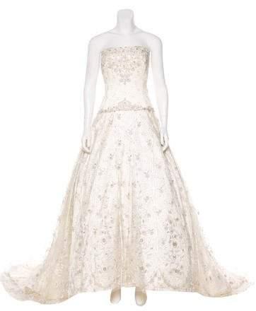 Reem Acra Swarovski-Embellished Couture Wedding Gown