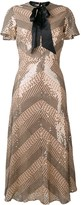 Temperley London Platinum midi dress