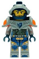 Lego Nexo Knights Clay Light-up Minifigure Alarm Clock - Blue